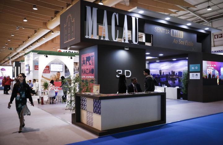 Stand de Macau presente na feira BTL – Bolsa de Turismo de Lisboa na FIL em Lisboa, 13 de março de 2019.  RODRIGO ANTUNES/LUSA