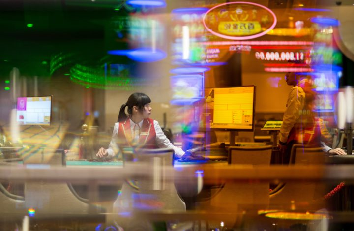 epaselect epa06520153 A dealer sits at a black jack table on the gaming floor of the MGM Cotai casino and resort a few hours before the opening in Macau, China, 13 February 2018. The US3.4 billion, Euros2.75 billion, integrated resort is the latest addition to Macau, the only territory of China where gambling is legal.  EPA/JEROME FAVRE