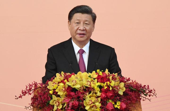 Presidente chinês, Xi Xinping, discursa no jantar de celebração dos 20 anos da Região Administrativa Especial de Macau, China, 19 de dezembro de 2019. GABINETE DE COMUNICAÇÃO SOCIAL DE MACAU (GCSM)/LUSA